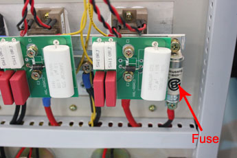 Frequency converter fuse
