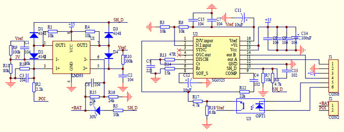 2000 watt inverter dc-dc circuit driver schematic