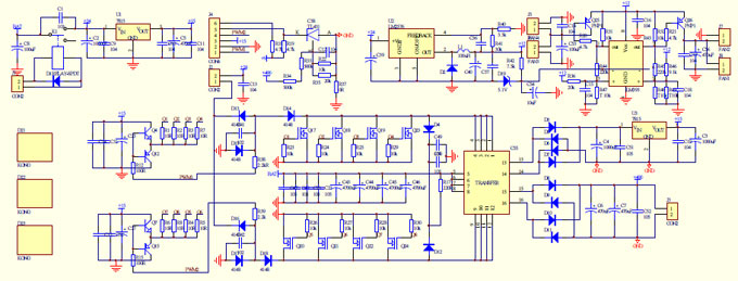 Homemade W Power Inverter With Circuit Diagrams GoHzcom - Circuit diagram of an inverter