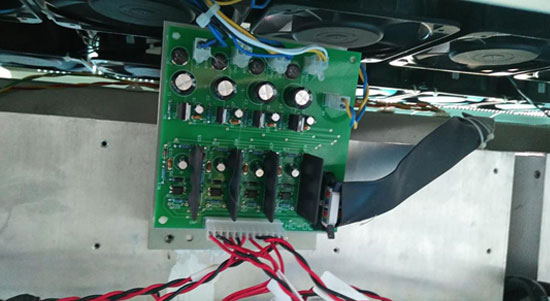 Replace second phase driver board of GoHz frequency converter