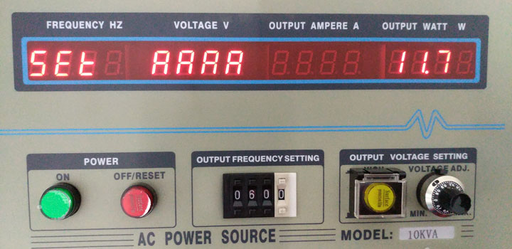 Frequency converter current calibration