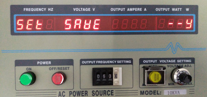 Saving frequency converter calibration paramters
