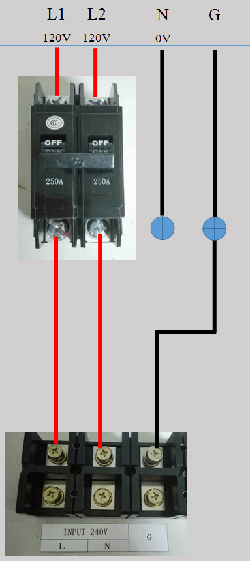 wiring gohz frequency converter to us single phase 120 240v gohz com rh gohz com 240v single phase plug wiring 240v single phase motor wiring diagram