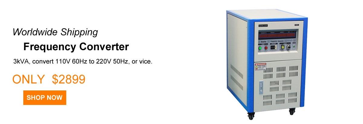 3 kVA 50Hz to 60Hz frequency converter