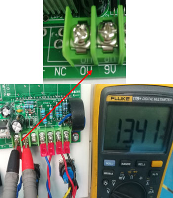 Frequency converter 9v transformer measurement