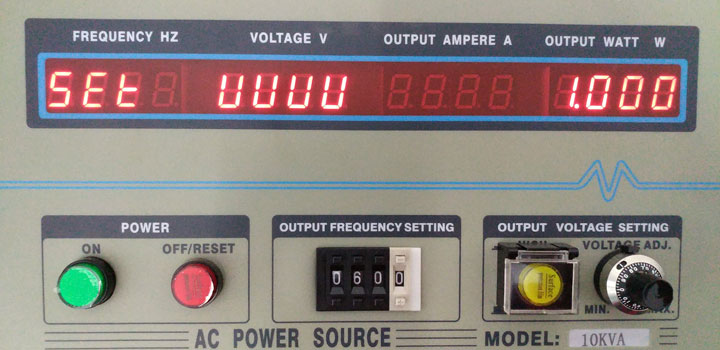 Frequency converter voltage calibration